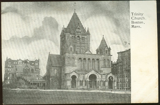 Postcard of Trinity Church, Boston, Massachusetts