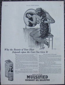 Beauty of Hair Mulsified Cocoanut Oil Shampoo 1921 Ad