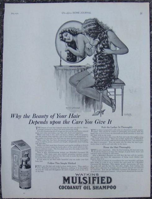 Beauty of Hair Mulsified Cocoanut Oil Shampoo 1921 Ad