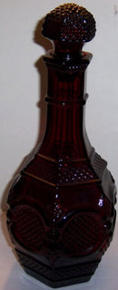 Avon Ruby Cape Cod Ruby Red Decanter with Stopper
