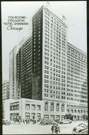 Postcard of Hotel Sherman, Chicago, Illinois