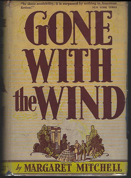 Gone With the Wind by Margaret Mitchell 1944 Southern Civil War Novel Dustjacket