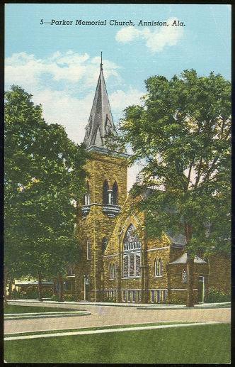 Postcard of Parker Memorial Church, Anniston, Alabama