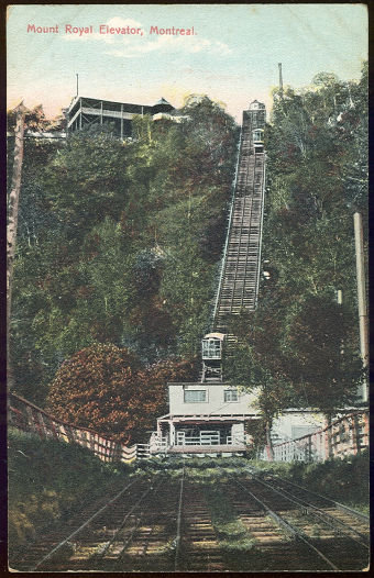 Postcard of Mount Royal Elevator, Montreal, Canada