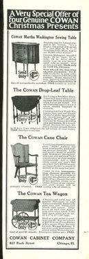 Cowan Cabinet Company 1925 Magazine Advertisement