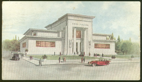 The Winona Savings Bank Winona, Minnesota 1916 Postcard