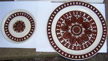Stonehenge Midwinter Brown Dahlia Dinner Plate & Saucer