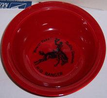 Bobby Benson H-O Ranger Red Fired On Cereal Bowl