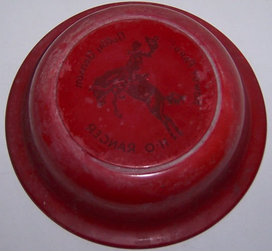 Bobby Benson H-O Ranger Red Fired On Cereal Bowl