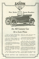 New Series Saxon Roadster 1917 Magazine Advertisement
