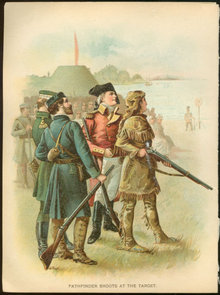 Pathfinder Shoots at The Target Lithograph 1897