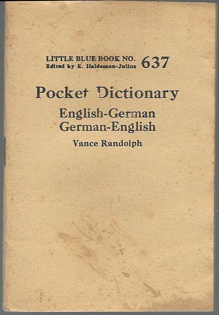 Pocket Dictionary English-German German-English by Vance Randolph LBB #637