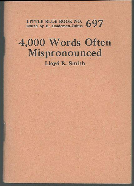 4,000 Most Essential English Words a Basic Literacy Test Little Blue Book #689