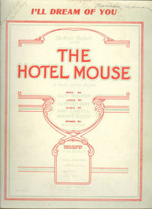 I'll Dream of You from The Hotel Mouse 1922 Sheet Music