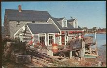 Vintage Postcard of A Maine Fisherman's Shack