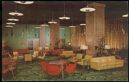 Postcard of Main Lobby YMCA Hotel, Chicago, Illinois