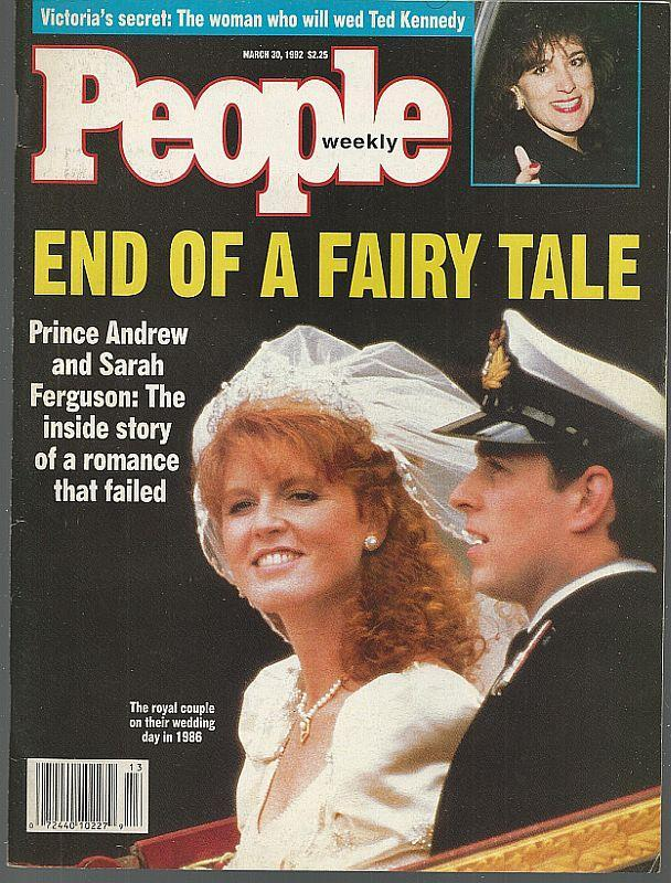 People Magazine March 30, 1992 Prince Andrew and Sarah Ferguson on cover