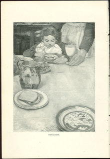 Children Illustration by Sarah S. Stilwell, Breakfast