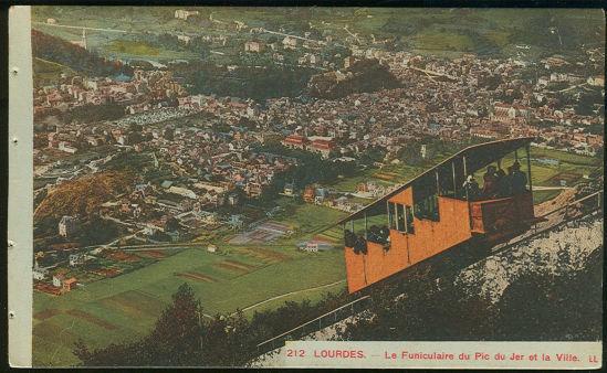 Postcard of Lourdes France Le Funiculaire du Pic du Jer Et La Ville