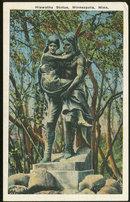 Postcard of Hiawatha Statue, Minneapolis, Minnesota