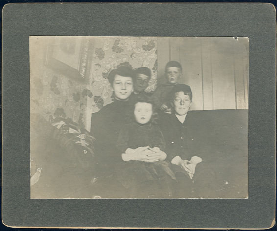 Photograph of Five Children, Two Girls and Three Boys