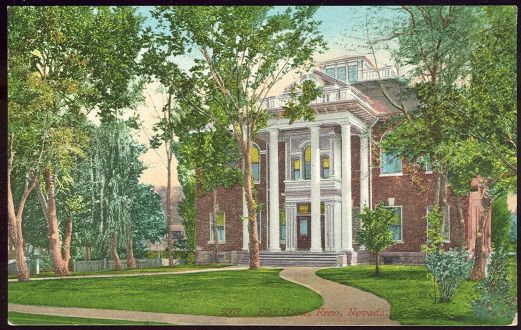 Postcard of Elk's Home, Reno, Nevada