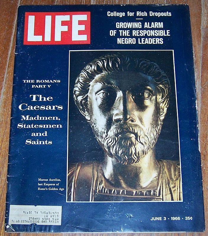 Life Magazine June 3, 1966 Era of the Caesars Cover/Millard G. Roberts/Music