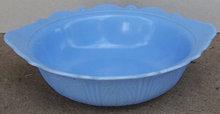 Vintage McKee Poudre Blue Serving Bowl Scalloped Edge