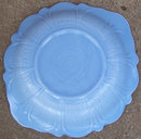 Vintage McKee Poudre Blue Serving Bowl Scalloped Edge