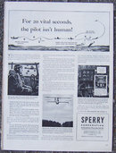 1944 World War II Sperry Corporation Life Magazine Advertisement