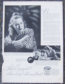 1944 Pond's Cold Cream  Life Magazine Advertisement
