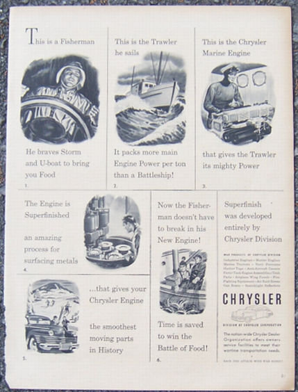 1944 Chrysler World War II Magazine Advertisment