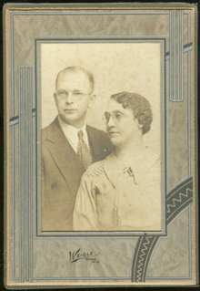 Framed Photograph of Older Couple From Ripon, Wisconsin