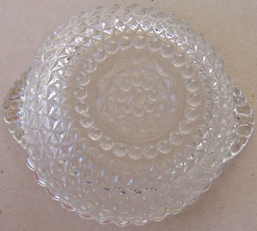 Vintage Diamond Quilted Tab Bowl in Crystal Color