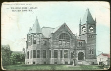 Postcard of Williams Free Library, Beaver Dam, Wisconsin