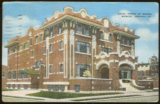 Loyal Order of Moose, Muncie, Indiana 1947 Postcard