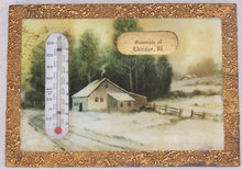 Souvenir of Chicago, Illinois Framed Thermometer