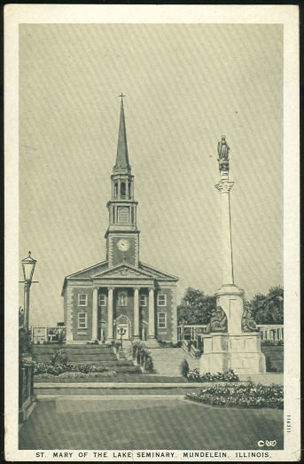 Postcard of The St. Mary of the Lake Seminary, Mundelein, Illinois