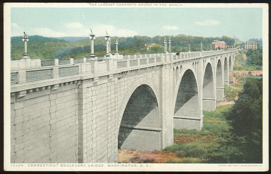 Postcard of Connecticut Boulevard Bridge Washington DC