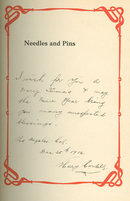Needles and Pins Signed by Mina Deane Halsey 1909