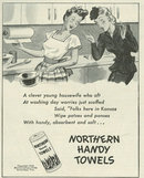 1944 World War II Northern Handy Towels Life Magazine Advertisement