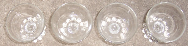 Set of Four Anchor Hocking Bubble Cocktail Glasses