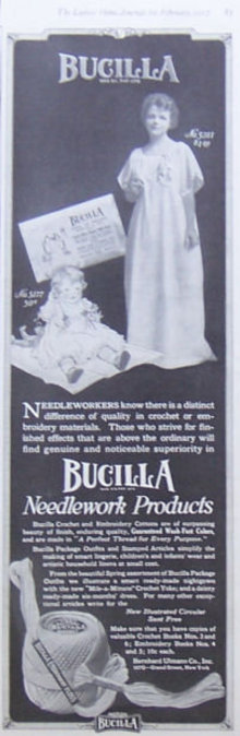 Bucilla Needlework Products 1917 Magazine Advertisement