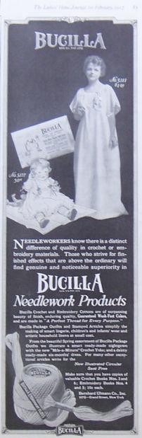 Bucilla Needlework Products 1917 Magazine Advertisement