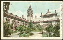 Postcard of Court of Ponce de Leon St. Augustine 1908