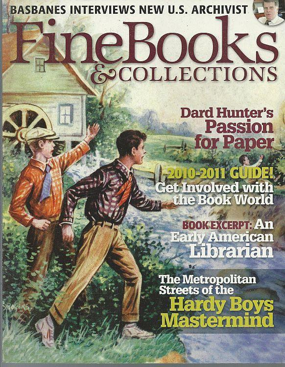 Fine Books and Collections Magazine Spring 2010 Edward Stratemeyer/Paper