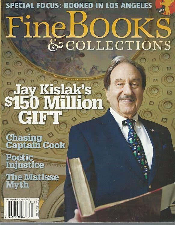 Fine Books and Collections Magazine January/February 2008 Jay Kislak/Ulysses