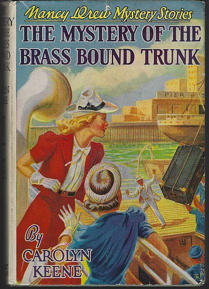 Mystery of the Brass Bound Trunk by Carolyn Keene 1940 Nancy Drew 17 Dust Jacket