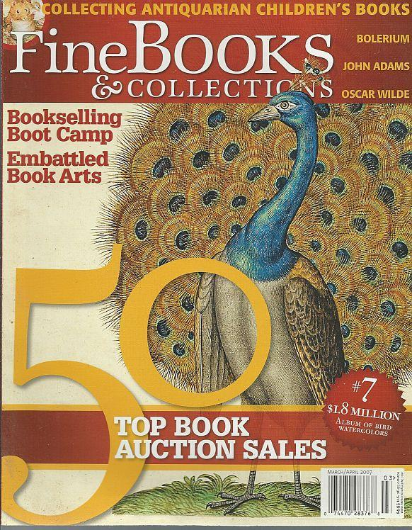 Fine Books and Collections Magazine March/April 2007 John Adams/Maps/Children's