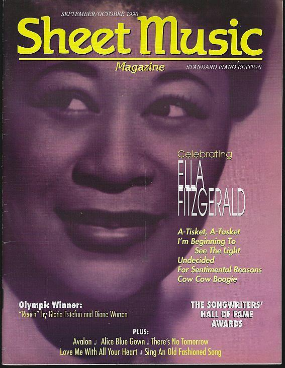 Sheet Music Magazine September/October 1996 Ella Fitzgerald/Hall of Fame/Olympic